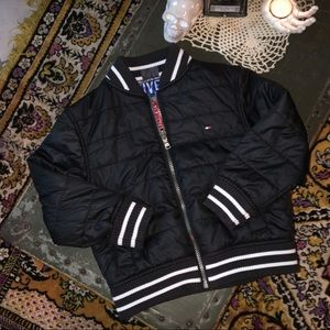 Tommy Hilfiger Boys Black Reversible Bomber